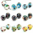 1x Murano Lampwork Glass Colorful Flower Animal European Bead For Charm Bracelet