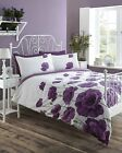 Poppy Meadow Quilt Duvet Cover Bedding Bed Set Heather Lilac 3 Sizes NEW