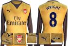 *15 / 16 - PUMA ; ARSENAL AWAY SHIRT LS / WRIGHT 8 = SIZE*
