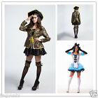 New Fashion Sexy Women Costumes Maid/Pirate Uniforms Halloween Cosplay Outfit