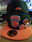 New York Knicks NBA HWC Classics 3 Buttonz Pins Fitted Flat Bill Brim Hat Cap NY on eBay