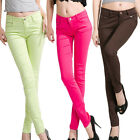Women Girl Candy Colored Pencil Pants Leggings Jeans Trousers Slim Casual Slacks