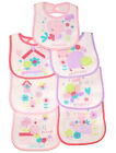 7 pack BABY BIBS DAYS OF THE WEEK 7 day Boys Girls Terry Waterproof back