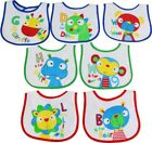"BabyQI 7 pack ""BABY BIBS"" DAYS OF THE WEEK days Terry Waterproof back 20 designs"