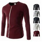 Luxury Mens Slim Fit Stylish Dress Long Sleeve Bottoming Casual T-shirts Tee Top