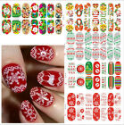 Mode Noël Christmas Santa Stickers Autocollant Ongles Décoration Nail Art Tips