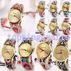 New Women Classical Geneva Ethnic Braided Bracelet Round Dial Quartz Wrist Watch