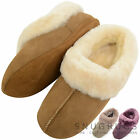 Ladies / Womens Genuine 100% Full Sheepskin Slipper with Soft Sole