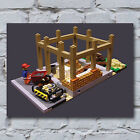 Vintage Lego Canvas Art Prints - Cool Retro Novelty Gift for Him Doctor Who Star