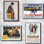 Vintage Movies Canvas Art Print - Chaplin Great Escape Guys And Dolls Decor Chic