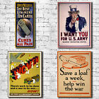 Wartime Propagana Art Canvas Print - Army Uncle Sam Save A Loaf decor gift paint