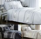 Modern Sequin Quilt Duvet Cover & 2 Pillowcase Bedding Bed Set Black White New