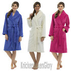 Womens/Ladies Super Soft Fleece Dressing Gown/Bath Robe NEW Size S, M, L