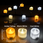 6-60pcs Battery Operated Flameless Flickering Tealights LED Tea Candle for Party
