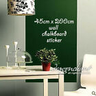 Roll of 45cmx2M Long Chalkboard Wall Decal Large Vinyl Sticker With Free Chalks