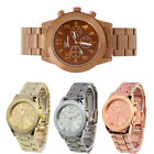 Geneva Women Men Stainless Steel Band Analog Quartz Movement Sport Wrist Watches