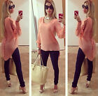 Hot Women'sLoose Long Sleeve Chiffon Casual Blouse Girl Shirt Lady Tops Blouse