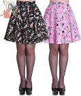 HELL BUNNY ZOMBIE DINER horror SHORT MINI skater SKIRT goth BLACK PINK XS-4XL