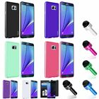 Pudding Soft TPU Gel Case Cover+Privacy Film+Pen For Samsung Galaxy Note 5