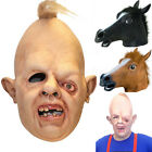 HOT! Fancy Creepy Halloween Party Costume Masquerade Sloth Horse Head Latex Mask