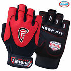 Farabi Weight Lifting Gloves Gym Training workout Body Building Leather Red