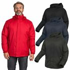 Trespass Bayfield Mens Waterproof Padded Jacket Hooded Windproof Raincoat