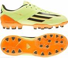 Adidas childrens F10 TRX AG 3 glow green artificial ground football boots 3-5.5