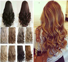 One Piece Not Real Human Hair Half Full Head Clip in Hair Extensions