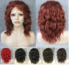 """Front lace body wave black brown dark red short synthetic wig wigs for women 14"""""""
