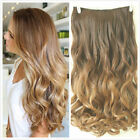 Pro Half Full Head Straight Curly Wavy Ombre Clip in Hair Extensions Ponytail