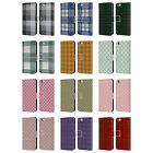 HEAD CASE DESIGNS PLAID PATTERN LEATHER BOOK WALLET CASE FOR APPLE iPHONE PHONES