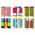 HEAD CASE DESIGNS HUED TILES LEATHER BOOK WALLET CASE COVER FOR SAMSUNG PHONES 1