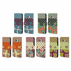 HEAD CASE DESIGNS FLORAL DOTS LEATHER BOOK WALLET CASE FOR SAMSUNG PHONES 1