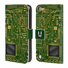 HEAD CASE DESIGNS CIRCUIT BOARDS LEATHER BOOK WALLET CASE FOR APPLE iPOD TOUCH