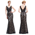 BLACK Women Cocktail Long Prom Party Bridesmaid Ball Gown Formal Evening Dresses