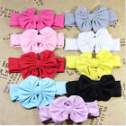 New Baby Hair Accessories Kids Headband Ribbon Bows Hairband Elastic Hair Turban