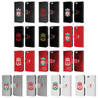 LIVERPOOL FC CREST 1 LEATHER BOOK WALLET CASE COVER FOR APPLE iPHONE PHONES