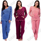 New Womens PJ's Warm Fleece Winter PJ Pyjama Set Night WearPyjamas Sets Ladies