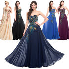 PLUS SIZE 2-24  Long/Short Peacock Masquerade Ball Gown Party Evening Prom Dress