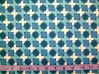 MEADOWBLOOM - BLUE CRISS CROSS GEOMETRIC PATTERN 100% cotton patchwork fabric
