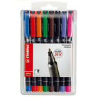 STABILO PERMANENT OHP UNIVERSAL MARKER PENS - WALLET OF 8 (ASSORTED COLOURS)