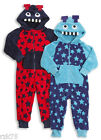 Boys Infants Robot Hooded All In One Pyjamas All In One, Blue Red C173
