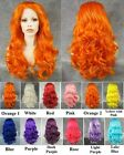 "24"" Front lace orange yellow rose pink blue long wavy synthetic cosplay wig.TOP"