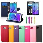 PU Leather Case Cover Strap Wallet Card Stand for Samsung Galaxy Note 5+Film+Pen