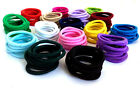 6mm snag free ELASTICS HAIR TIES craft  hair bands wholesale womens COLOUR combo