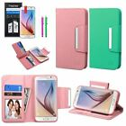 For Samsung Galaxy S6 Wallet Leather Credit Card Flip Stand Cover Case+Pen+Film