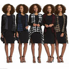 New Winter Warmer Womens Ladies Stylish Check Open Waterfall Cardigan One Size