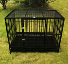 "37"" /48"" Heavy Duty Dog Cage Crate Kennel Metal Pet Playpen Portable w / Tray NEW"