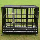 "37""/42""/48"" Heavy Duty Dog Cage Crate Kennel Metal Pet Playpen Portable w/ Tray"