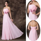 New Pink Womens Evening Formal Party Ball Gowns Prom Bridesmaid Long MAXI Dress